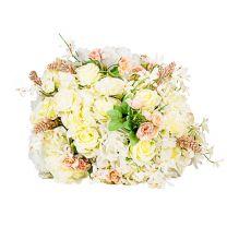 Bouquet de Rose Blanc Crème Duchesse