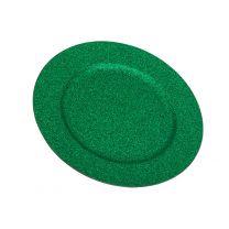 Sous-Assiette Paillette Vert 32 cm