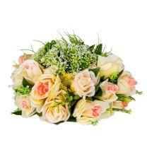 Bouquet de Rose Blanc Créme Luxe
