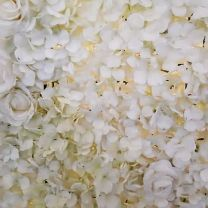 Mur Floral Blanc 240x240cm